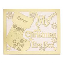 Christmas Eve Box MDF My Reindeer Sack Robin, Our Doves Bells CandyCane